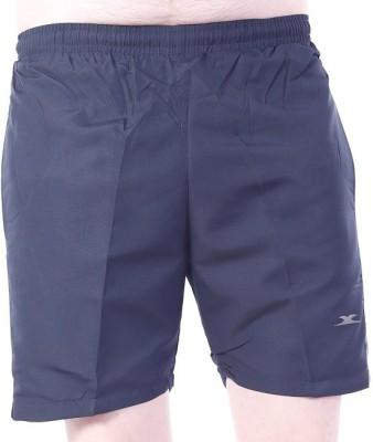 Zagros Solid Men's Dark Blue, White Sports Shorts, Gym Shorts