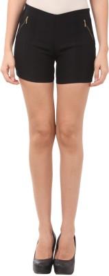 Vostro Moda Solid Women's Black Basic Shorts