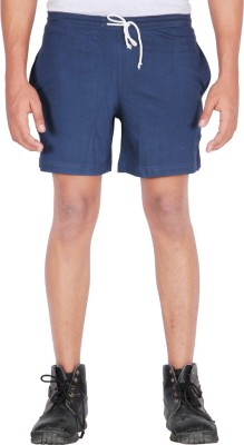 Frang Solid Men's Blue Bermuda Shorts