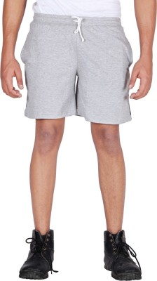 Frang Solid Men's Grey Bermuda Shorts