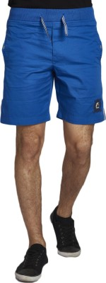 Beevee Solid Men,s Blue Beach Shorts, Gym Shorts, Running Shorts