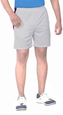 SPORTEE Solid Men,s Grey Sports Shorts