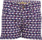Dreamszone Printed Women's Blue Hotpants