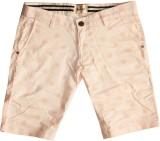 Rasonn Polka Print Men's Pink Basic Shor...