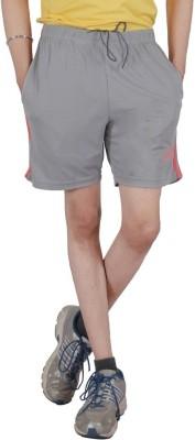 Awack Solid Men's Grey Sports Shorts