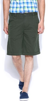 Pepe Jeans Solid Men's Green Basic Shorts