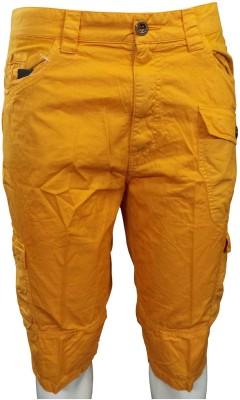 Hi-Sport Solid Men's Yellow Basic Shorts