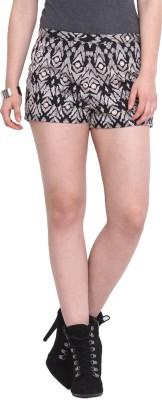 Rena Love Printed Women's Black Basic Shorts