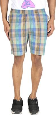 Le Tailor Checkered Men's Multicolor Basic Shorts