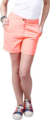 Ragdoll Solid Women's Denim Pink Denim Shorts