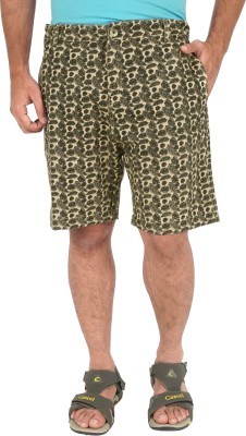 Cub Floral Print Men's Multicolor Basic Shorts