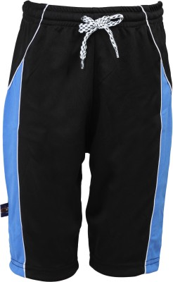 Urban Studio Solid Boy's Black Swim Shorts