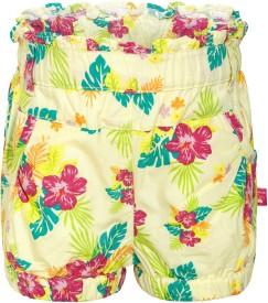 FS Mini Klub Printed Baby Girl's Multicolor Basic Shorts