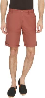 AVOQ-Style Reboot Solid Men's Red Basic Shorts