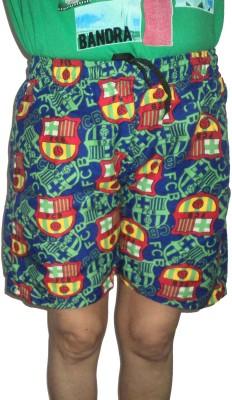Mode Printed Men's Multicolor Bermuda Shorts