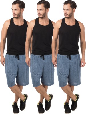 Meebaw Self Design Men,s Dark Blue, Dark Blue, Dark Blue Sports Shorts