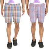 Le Tailor Checkered Men's Multicolor Bas...