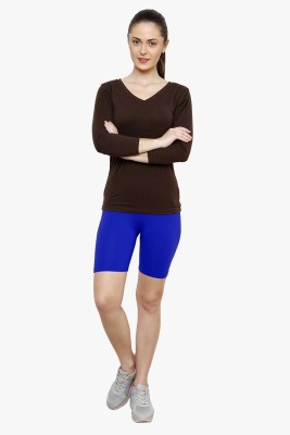 Softrose Solid Women's Dark Blue Cycling Shorts