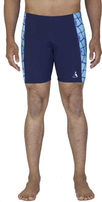 Attiva Solid Men's Dark Blue Swim Shorts
