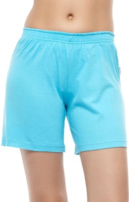 Coucou by Zivame Solid Women's Blue Night Shorts