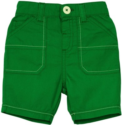 Mom & Me Solid Baby Boy's Green Cargo Shorts