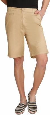 Imagica Solid Men's Beige Basic Shorts