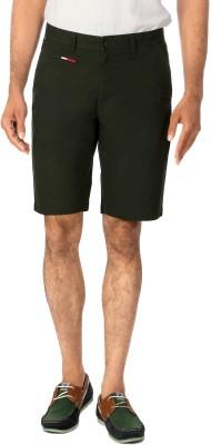 Van Heusen Solid Men's Green Basic Shorts