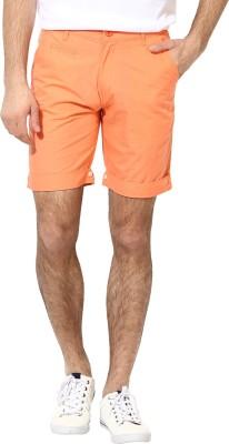 Silver Streak Solid Men,s Orange Basic Shorts
