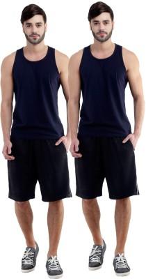 Dee Mannequin Self Design Men's Black, Black Sports Shorts