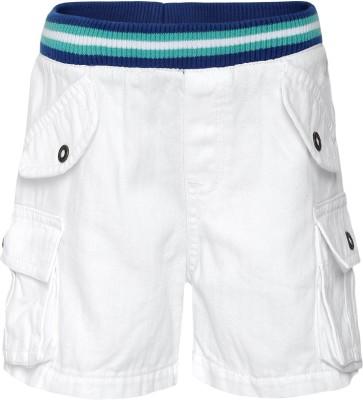 FS Mini Klub Woven Boy's White Basic Shorts