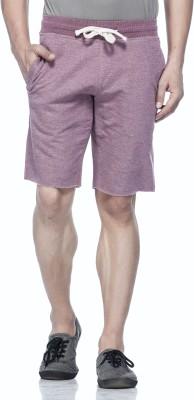 Tinted Solid Men's Maroon Basic Shorts