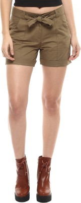 Martini Solid Women's Green Hotpants