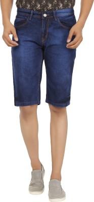 Ben Carter Solid Men's Blue Denim Shorts