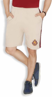 Live In Solid Men's Beige Sports Shorts