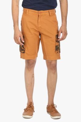 Global Nomad Solid Men's Gold Cargo Shorts