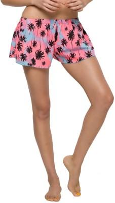 The Beach Company Printed Women's Pink, Black Beach Shorts