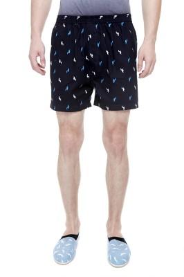 Trends Printed Men's Blue Boxer Shorts