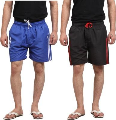 X-Cross Solid Men's Multicolor Basic Shorts