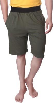 LUCfashion Solid Men's Dark Green, Black Basic Shorts