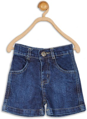 612 League Solid Baby Boy's Blue Denim Shorts