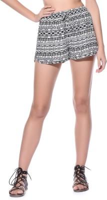Wisstler Printed Women's White, Black Boxer Shorts