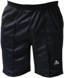 S-Mark Solid Men's Black Gym Shorts