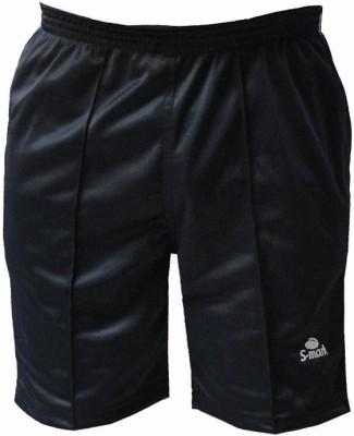 S-Mark Solid Men's Black Gym Shorts