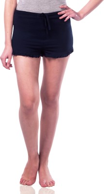 Miss Chase Solid Women's Blue Basic Shorts