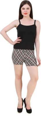 Flur Argyle Women's Grey Hotpants