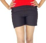 E2G Solid Women's Black Hotpants