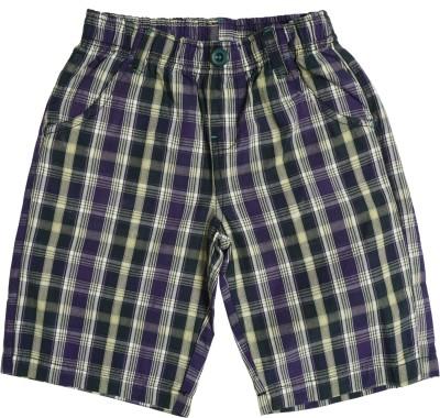 Cub Checkered Boy's Multicolor Bermuda Shorts
