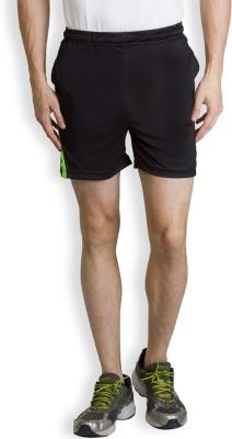 Yaadi Solid Men's Black Sports Shorts