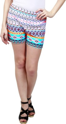 Ragdoll Printed Women's Multicolor Hotpants