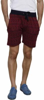 Gen Self Design Men's Red Basic Shorts